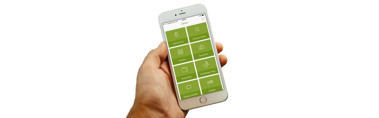 Smartphone App Zahnarztsuche