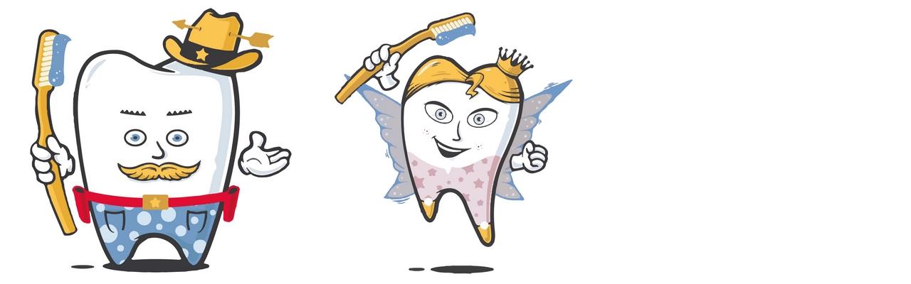 Zähne putzen als Comic