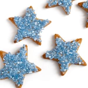 Stern-Plätzchen blau