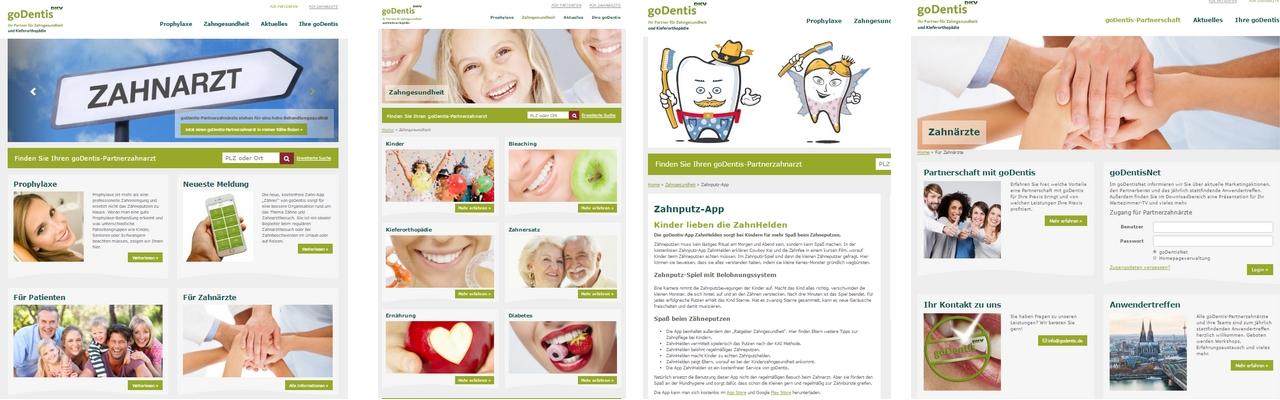 neue Webseite von goDentis