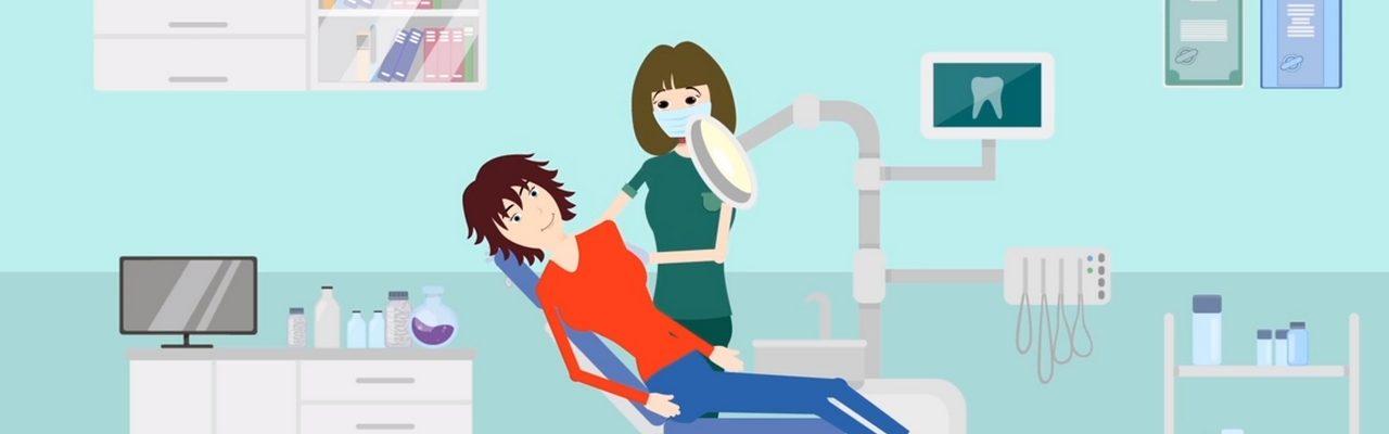 Szene aus Video: Zahnartpraxis Patientin mit Zahnaerztin