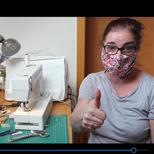 Eine einfache Nähanleitung für eine Mund-Nasen-Maske.